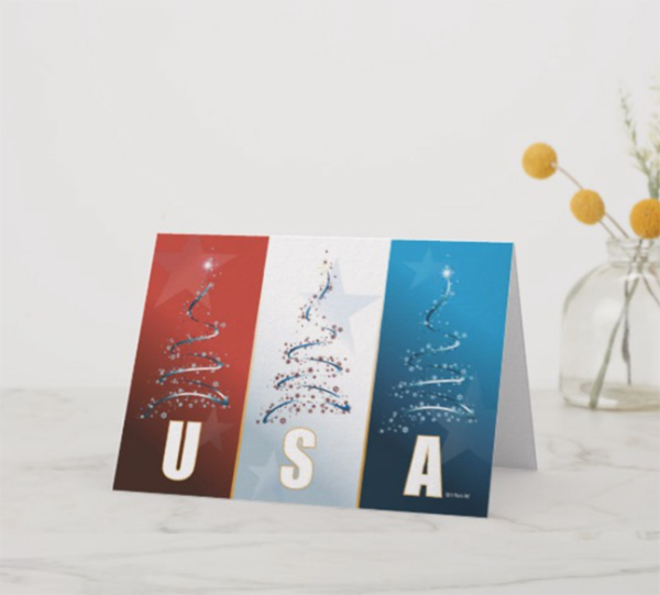 Patriotic Christmas Card by Wim-Designs.