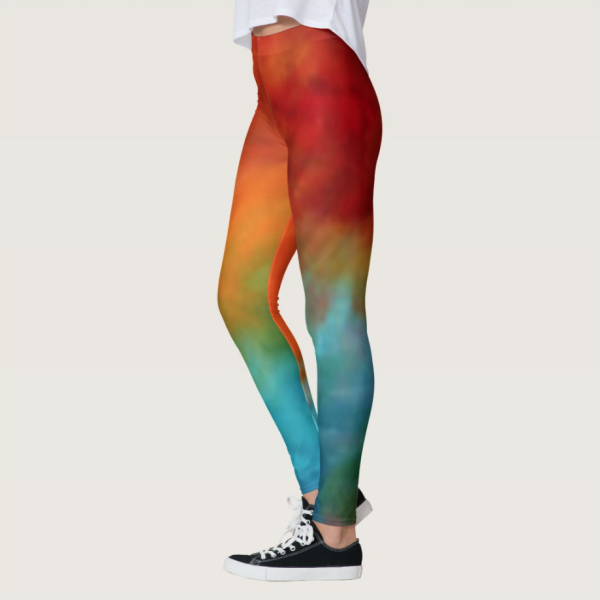 colorful lady's stretch pants by William Martin of WiM-Designs